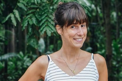 Main image of Angi Ruoss against a backdrop of trees