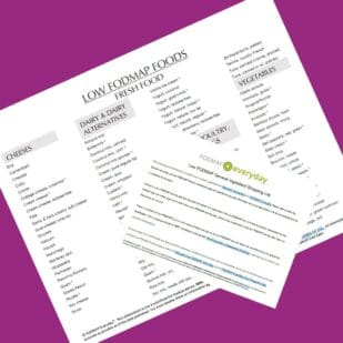 Low FODMAP Food List